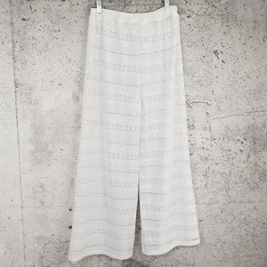VINTAGE Lace Palazzo Cropped Pant